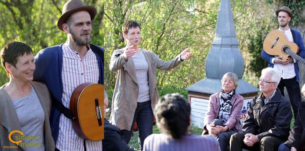Bibelerzählen on Tour, Simone Merkel, Johannes Rosenstock, Erzählungen und Musik – vor Ort zu Gast