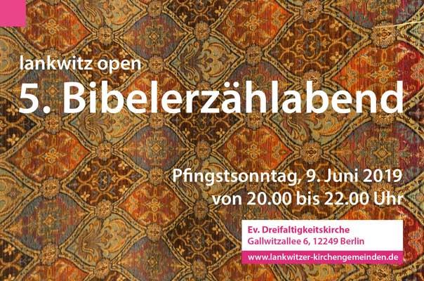 lankwitz open, Bibelerzählabend, Lankwitz, Biblische Geschichten, Simone Merkel