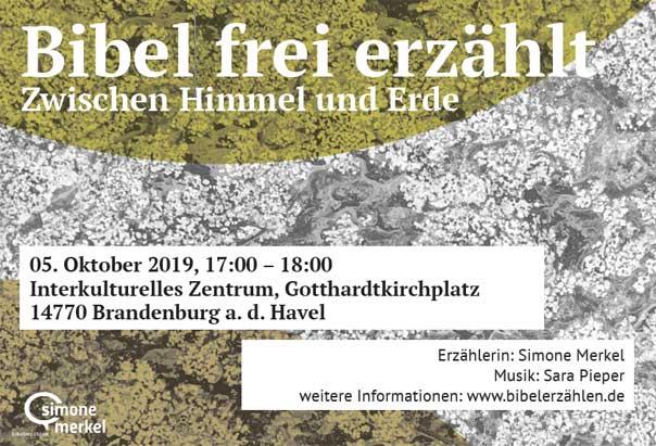 Bibelerzählabend, Brandenburg a. d. Havel, Bibel frei erzählt, Ausbildung, BEA, Erzählerin Simone Merkel