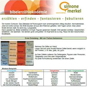 Bibelerzählen, Erzählübungen, Bibelerzählakademie, Simone Merkel